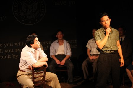 "Chris Doi, Hansel Tan and Tony Vo in a scene from ""No-No Boy"" (Photo credit: John Quincy Lee)"