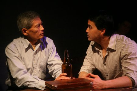 "Glenn Kubota and Chris Dui in a scene from ""No-No Boy"" (Photo credit: John Quincy Lee)"