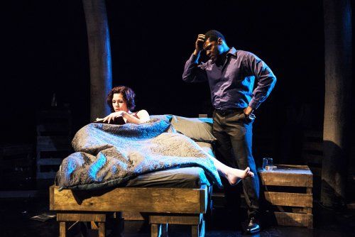"""Claire Warden and Richard Prioleau in a scene from """"A Persistent Memory"""" (Photo credit: Russ Rowland)"""