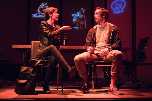 "Jocelyn Kurtisky and Jack Fellows in a scene from ""STET"" (Photo credit: Ben Strothmann)"