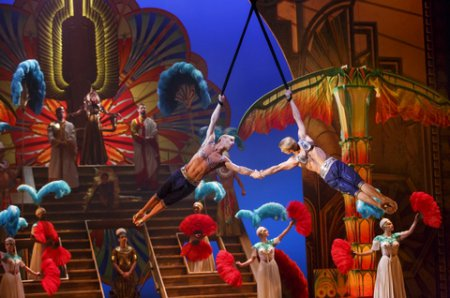 "Andrew and Kevin Atherton in a scene from Cirque du Soleil's ""Paramour"" (Photo credit: Richard Termine)"