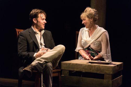 """Drew Ledbetter and Lisa Bostnar in a scene from """"A Persistent Memory"""" (Photo credit: Russ Rowland)"""