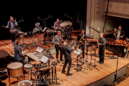 PRISM Quartet and Sō Percussion (Photo credit: Scott Friedlander)