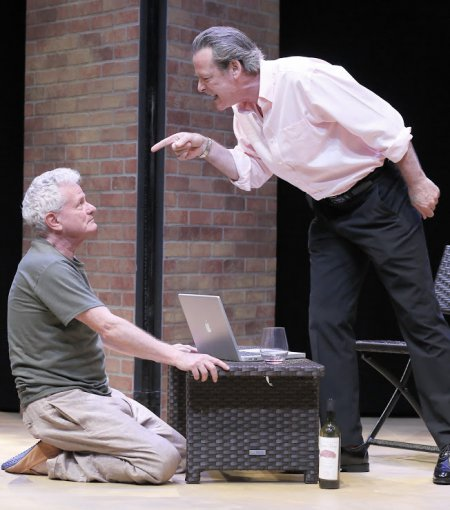 "Thomas G. Waites and James McCaffrey in a scene from ""Austin"" (Photo credit: Carol Rosegg)"