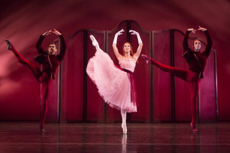 """Ricardo Graziano, Danielle Brown and Jamie Carter in a scene from """"Valse Noble et Sentimentales"""" (Photo credit: Yi-Chun Wu)"""
