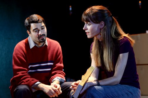 """Amadeo Fusca and Emily Batsford in a scene from """"Touch"""" (Photo credit: Nikhil Saboo)"""