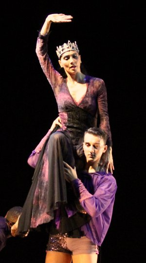 "Alessandra Corona and Nick Burrage in a scene from Ramon Oller's ""Thorns in the Crown"" (Photo credit: Heaven Jores)"
