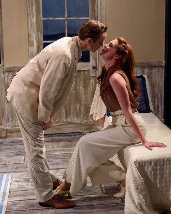 "Andrew Bryce and Mary McNulty in a scene from S. N. Behrman's ""End of Summer"" (Photo credit: Stephen Leong)"