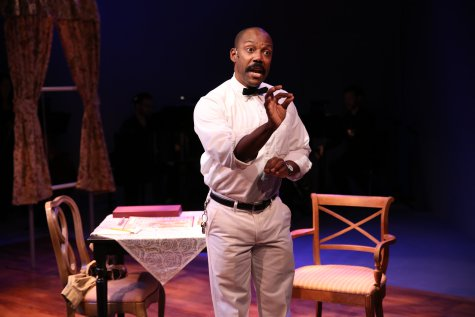 """T. Oliver Reid in a scene from """"Just One 'Q,' """" part of Premieres' """"Inner Voices"""" (Photo credit: Carol Rosegg)"""