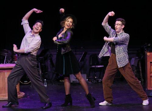 "George Salazar, Ciara Renée and Nick Blaemire in a scene from ""Tick, Tick… BOOM!"" (Photo credit: Carol Rosegg)"