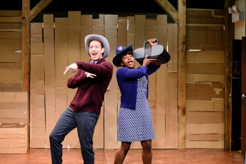 "Jennifer Kidwell and Scott Sheppard in ""Underground Railroad Game""(Photo credit: Ben Arons)"