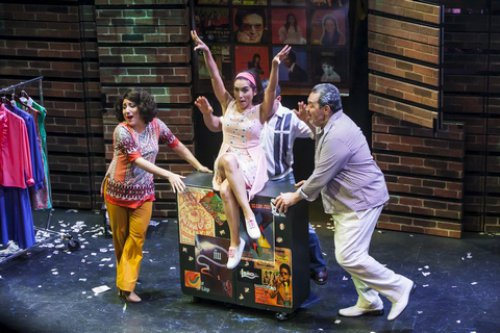 """Shadia Fairuz, Ana Isabelle and Tito Nieves in a scene from """"I Like It Like That"""" (Photo credit: Marisol Diaz)"""