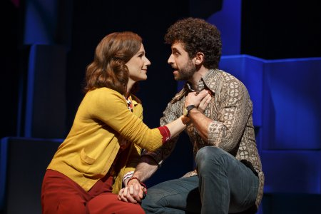 "Stephanie J. Block and Brandon Uranowitz in a scene from ""Falsettos"" (Photo credit: Joan Marcus)"