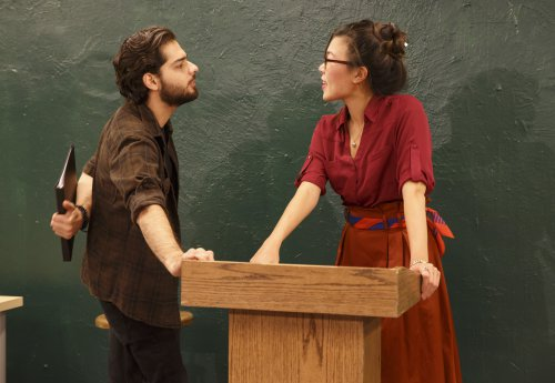 "Chris Tabet and Rachel Lin in ""Ajax,"" part of the Flea Theater's production of A.R. Gurney's ""Two Class Acts"" (Photo credit: Joan Marcus)"