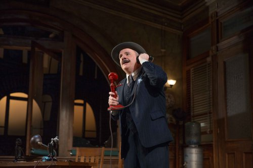 "Nathan Lane in a scene from ""The Front Page"" (Photo credit: Julieta Cervantes)"