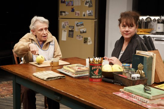 "Roberta Maxwell and Amy Warren in Richard Nelson's ""Women of a Certain Age,"" Play 3 of  ""The Gabriels: Election Year in the Life of One Family"" (Photo credit: Joan Marcus)"