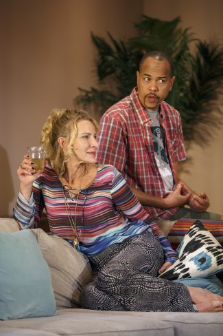 """Luisa Stus and Tyrone Mitchell Henderson in a scene from """"Rancho Viejo"""" (Photo credit: Joan Marcus)"""