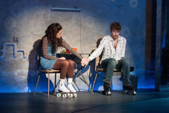 """Rachel Prather and Daniel David Stewart in a scene from """"The Band's Visit (Photo credit: Ahron H. Foster)"""