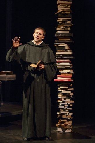 "Fletcher McTaggart in the title role of ""Martin Luther on Trial"" (Photo credit: Joan Marcus)"