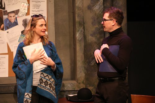 "Clea Alsip and Justin Ivan Brown in a scene from Cary Pepper's ""Mark My Worms (Photo credit: Carol Rosegg)"