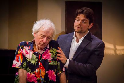 "Austin Pendleton and Eric Joshua Davis in ""Consider the Lilies"" (Photo credit: Talya Chalef)"