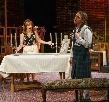"Eleanor Reissa and Shayna Schmidt in a scene from New Yiddish Rep's revival of ""God of Vengeance"" (Photo credit: Ronald L. Glassman)"