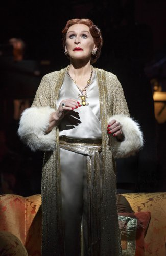 "Glenn Close as Norma Desmond in a scene from the revival of ""Sunset Boulevard"" (Photo credit: Joan Marcus)"