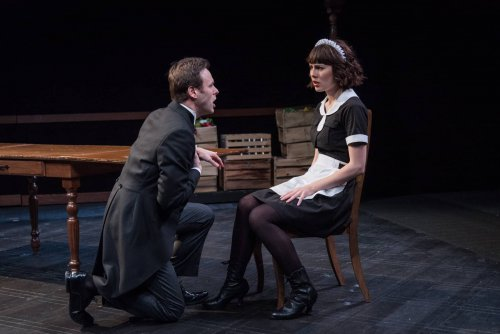 "George Merrick and Katie Kleiger in a scene from ""Ring Twice for Miranda"" (Photo credit: Russ Rowland)"
