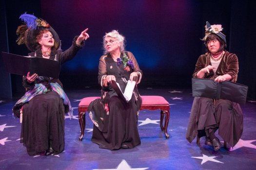 "Alison Fraser, Tyne Daly and Ann Harada in a scene from Jerry Herman's ""Dear World"" (Photo credit: Ben Strothmann)"