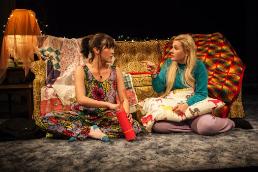 """Isabelle Fuhrman and Abigail Breslin in """"All the Fine Boys"""" (Photo credit: Monique Carboni)"""