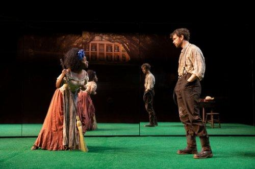 Teyonah Parris And Paul Alexander Nolan In A Scene From Jeremy O Harris Slave Play At New York Theatre Workshop Photo Credit Joan Marcus