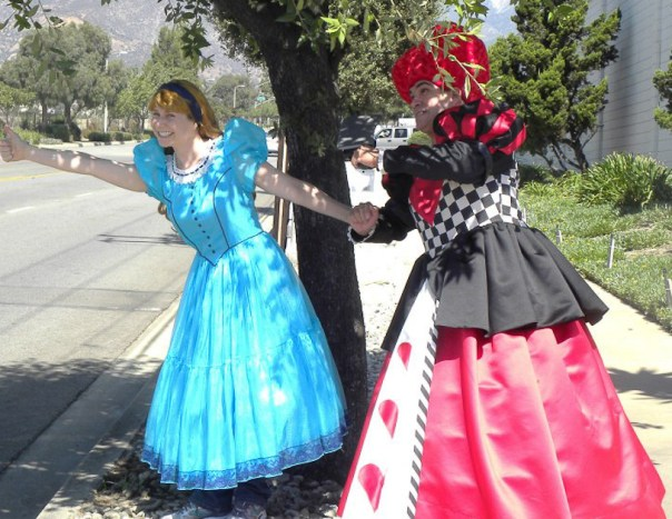 Alice in Wonderland and the Red Queen