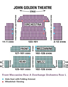 John golden theatre also seating chart rh theatregold