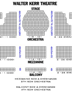 Walter kerr theatre also seating chart and access informaion rh theatregold