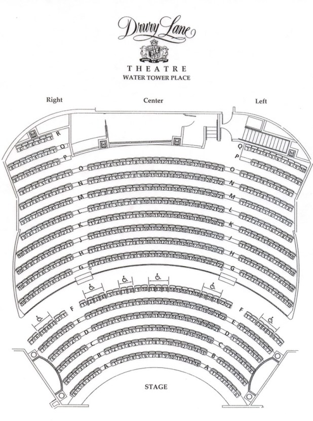Drury lane theatre seating chart for 1 tower lane oakbrook terrace