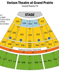 Verizon theatre seating chart also in dallas rh theatreindallas
