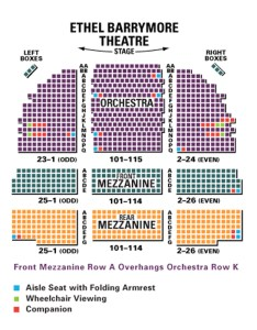Ethel barrymore theatre seating chart also in new york rh theatreinnewyork