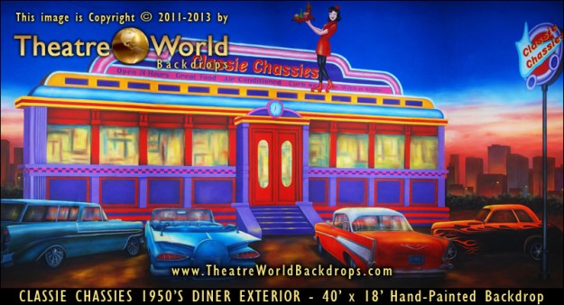 new 1950 39 s 60 39 s and 70 39 s diner and high school backdrops