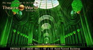 Emerald City Great Hall Professional Scenic Backdrop