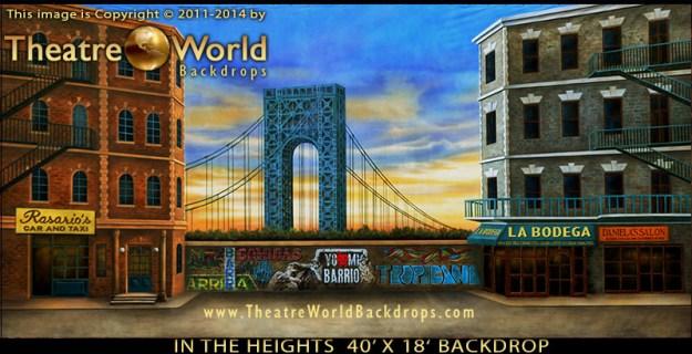 In The Heights Professional Scenic Backdrop New York's Washington Heights Neighborhood