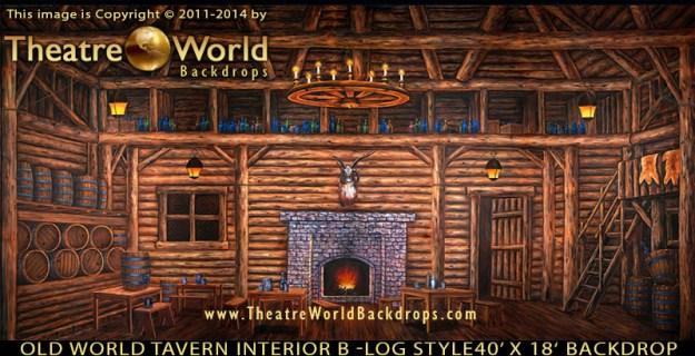 Old World Tavern Interior B Professional Scenic Backdrop