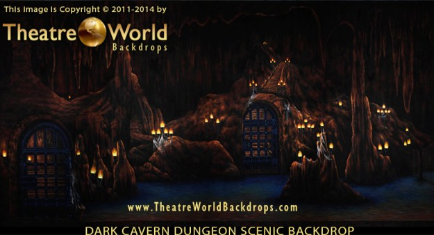 Dark Cavern Dungeon Professional Scenic Backdrop