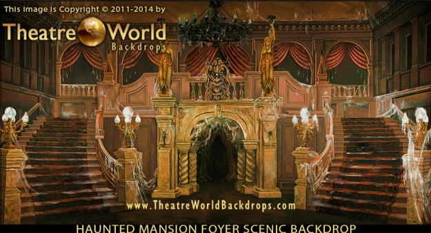 Professional Scenic Backdrop Haunted Mansion Foyer B