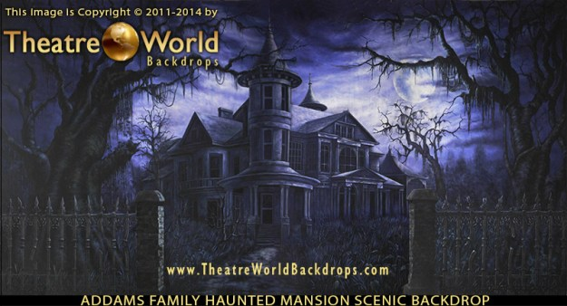 Addams Family Haunted Mansion Scenic Backdrop