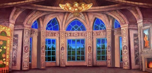 Professional Cinderella Baroque Ballroom Scenic Backdrop