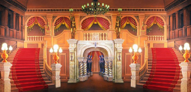 Majestic Mansion Foyer Professional Scenic Alice in Wonderland Backdrop