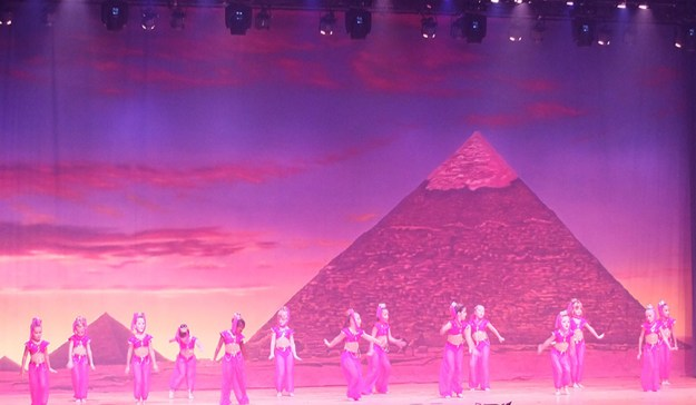 Professional Scenic Backdrop Pyramids at Sunset Charlene's School of Dance