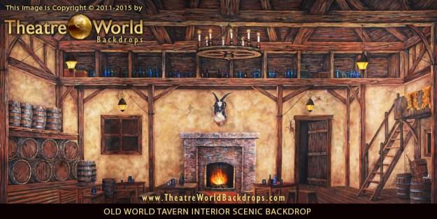 Old World Tavern Interior Professional Scenic Backdrop