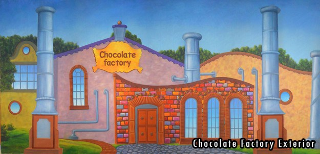 2015-2016 Seasons - Chocolate Factory Exterior Professional Scenic Backdrop