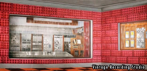 2015-2016 Seasons - Vintage Recording Studio Professional Scenic Backdrop